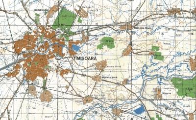 Harta Topografica Timisoara, fragment