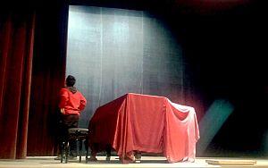 Scena teatrului vechi din Oravita