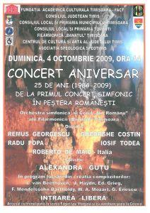 Concert aniversar 25 ani - Pestera Romanesti 2009