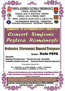 Program Concert Pestera Romanesti 2011