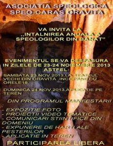 Afis Intalnirea Speologilor din Banat 2013